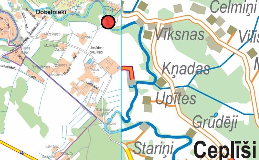 Tilts starp Cepīšiem un Dobelniekiem pāri M.Juglai
