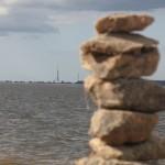 Skats tālumā uz Rīgas torņiem